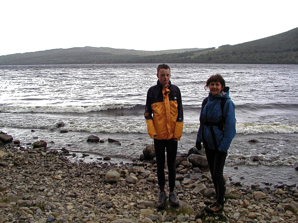 Christine and Rowan by the loch