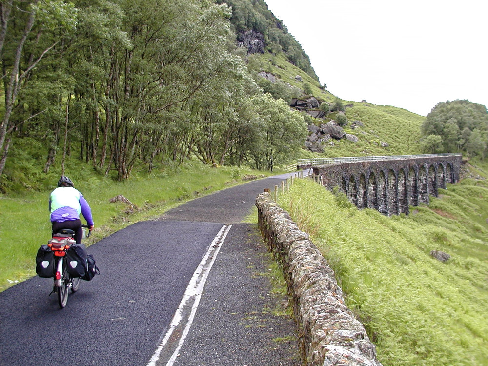 Approaching the Glen Ogle viaduct, built by the Caledonian Railway