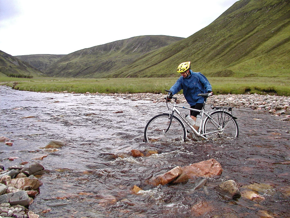 Second river crossing on the Gaick Pass