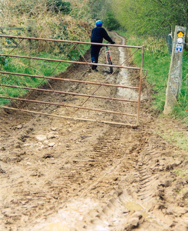 The muddy track