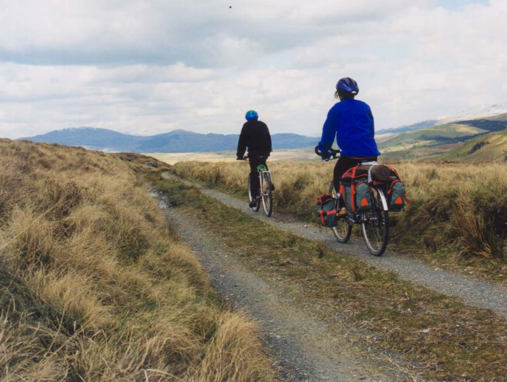 A great off road section between Corris and Dolgellau
