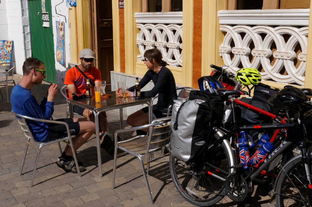 Rowan, Juan and Christine after arriving at Alhama de Almeria