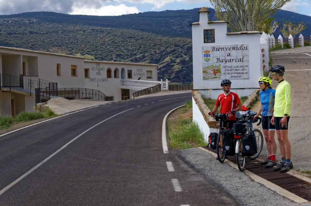 We say goodbye to Juan after arriving at Bayarcal