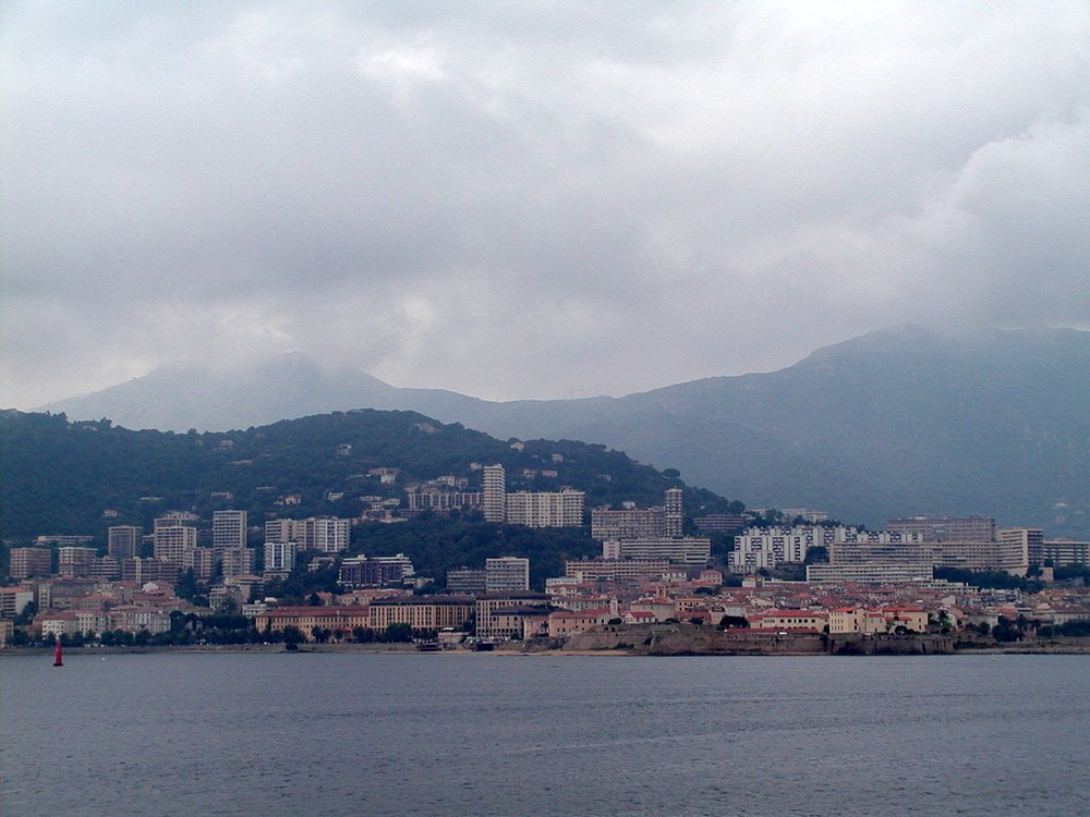 Ajaccio from the ferry