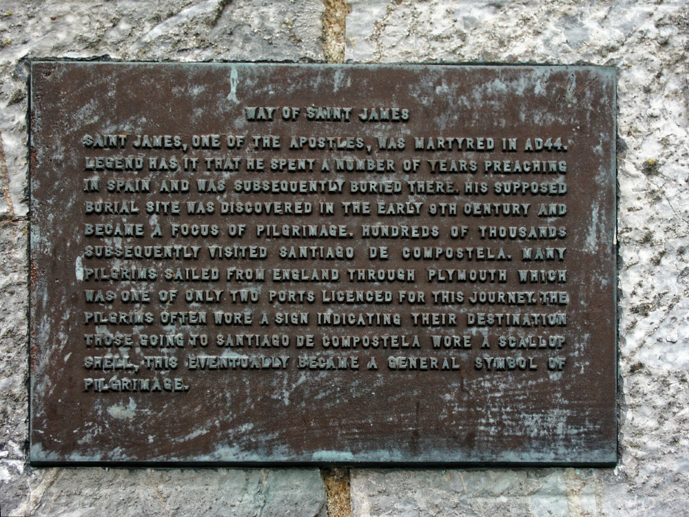 Plaque at Plymouth harbour