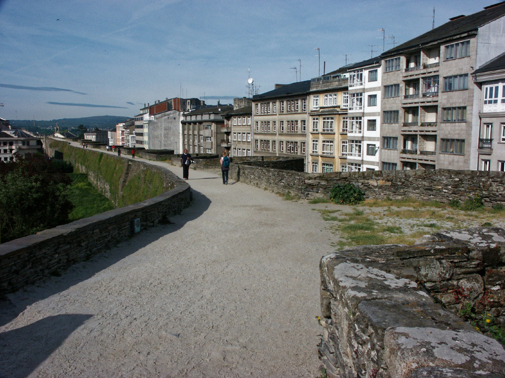 The city wall encircling Lugo