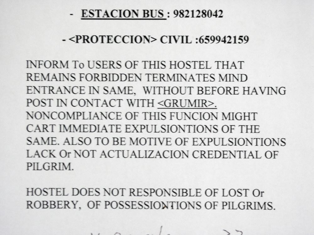 Hostel rules