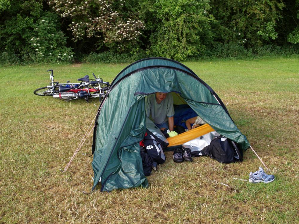 Rowan in the tent