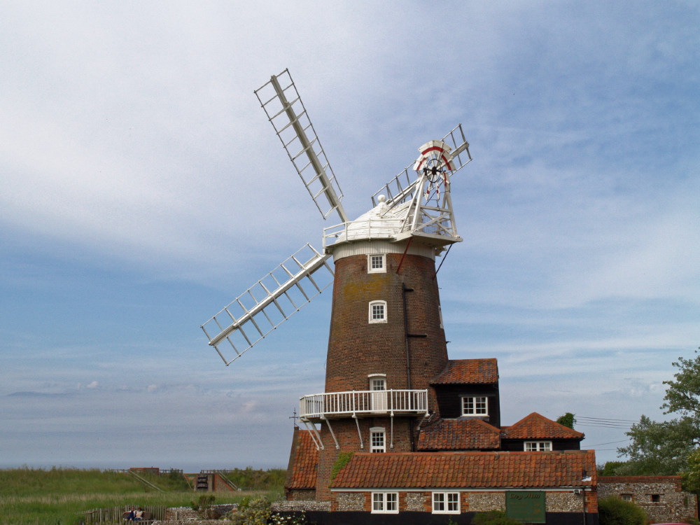 Disused windmill at Cley next the Sea, now offering bed and breakfast accommodation