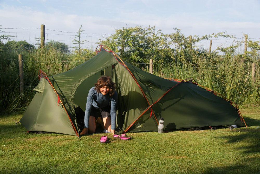 The tent at Abercoed.