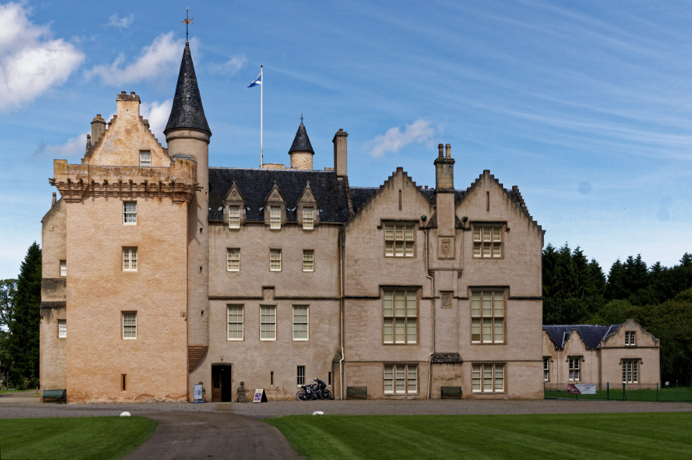 Brodie Castle, whose tearoom we visited