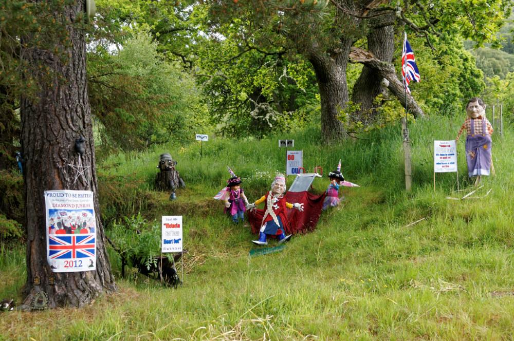 Bizarre Jubilee montage near Rogart