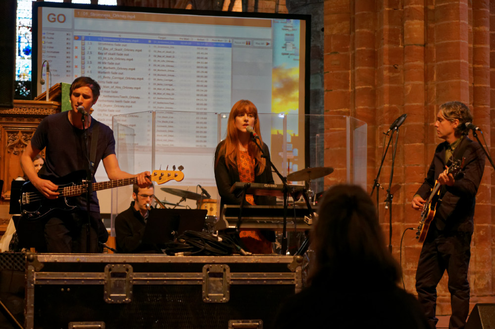 """""""The Magnetic North"""" rehearsal in St Magnus Cathedral"""