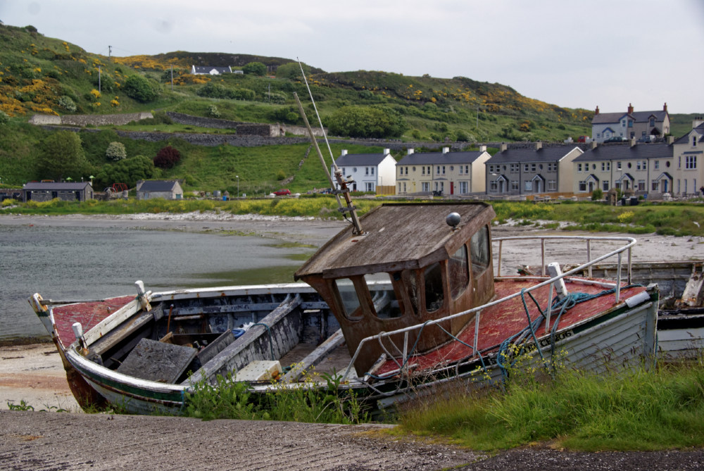 Decaying boats by the harbour at Rathlin Island