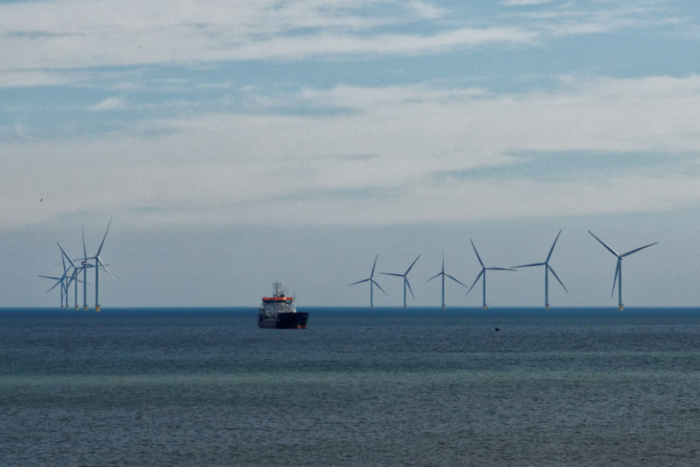 Wind turbines off the coast of Withernsea