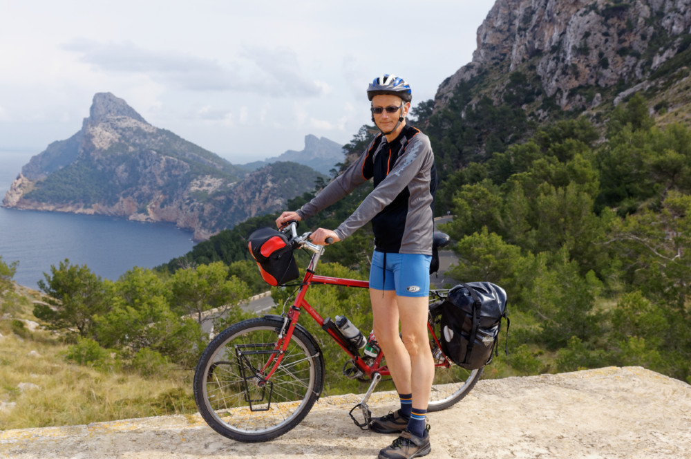 Alan at a viewpoint on the road to Cap de Formentor