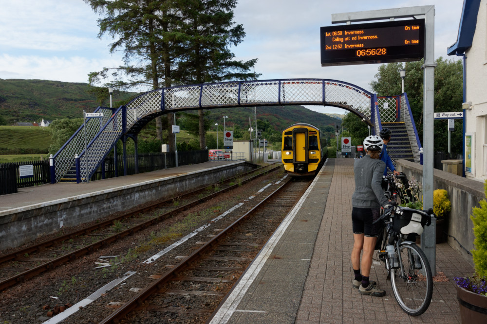The 06:58 arrives at Strathcarron station